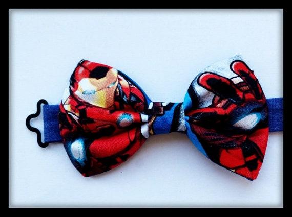 Spiderman Batman Bow Tie Neck Necktie Dickie Fabric Costume Comics Marvel Thor