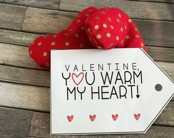 Handmade Heart Handwarmers
