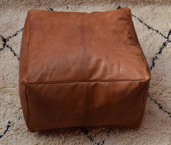 Amazing Best Offer 20 Off Free Shipping Moroccan Leather Pouf Ottoman Square Tan Pouf Morocco Leather Pouf Ottoman Pouf Cover Creativecarmelina Interior Chair Design Creativecarmelinacom