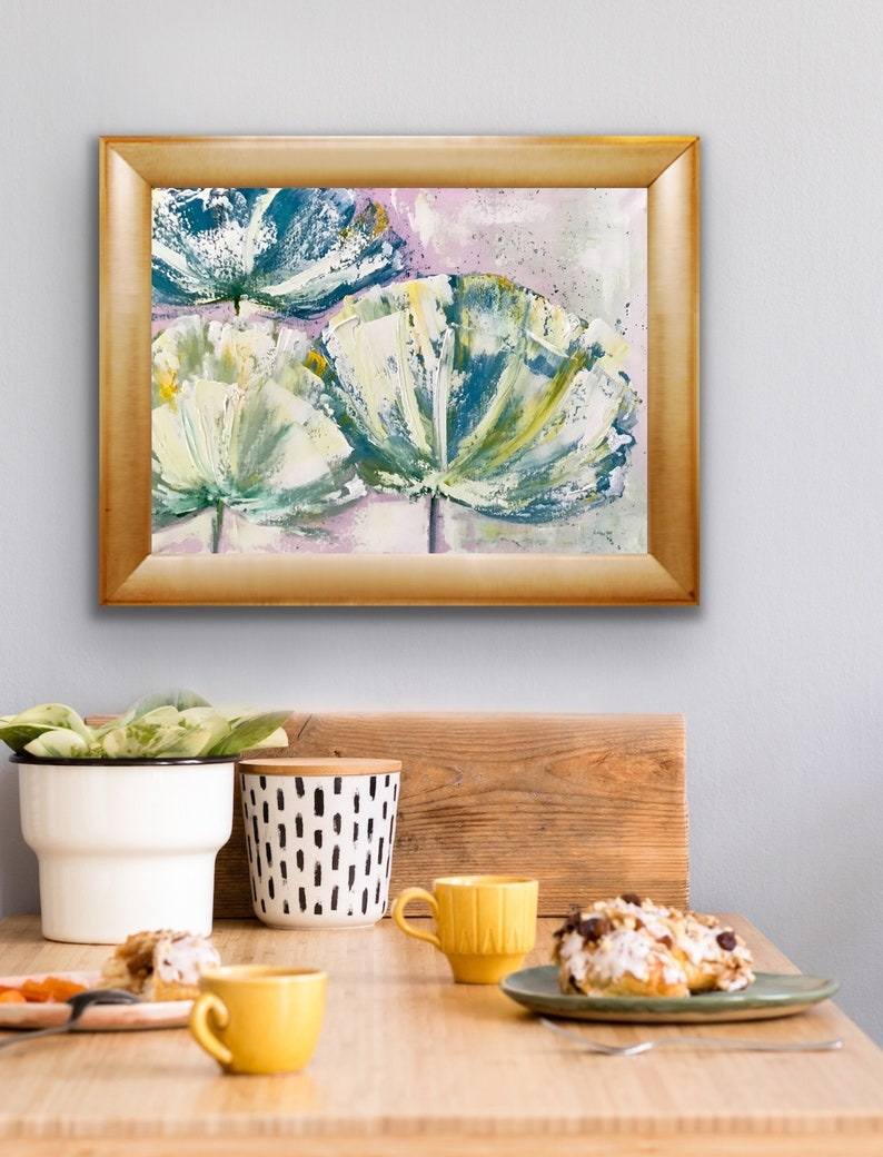 Floral Painting Flower Painting Contemporary Painting Floral Art Free Shipping Canada