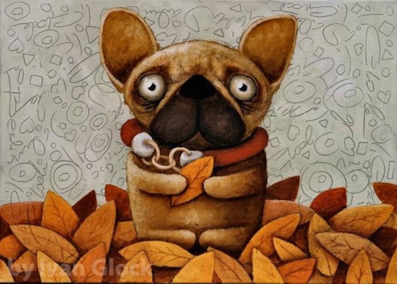 Bulldog francese cane disegno cute dog bulldog francese etsy