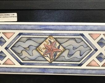 """Ceramic wall border """"Starfish"""""""