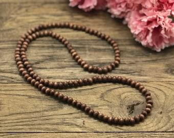 Wood Bead Necklace, Beaded Necklace, Wood Beaded Necklace, Wooden Bead Necklace, Wooden Beaded Necklace, Boho Wood Necklace