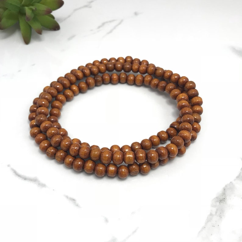 Wood Beaded Necklace Wooden Bead Necklace Beaded Necklace Boho Wood Necklace Wood Bead Necklace Wooden Beaded Necklace