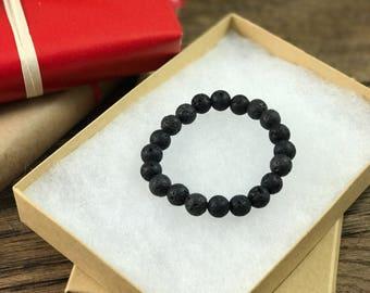 Lava Bead Bracelet, Lava Diffuser Bracelet, Lava Stone Bracelet, Lava Rock Bracelet, Lava Bracelet, Lava Beads   Aromatherapy For Less