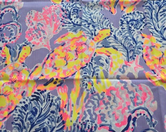 """Lilly Lilac Verbena So Snappy Fabric 18"""" Square or By The Yard"""