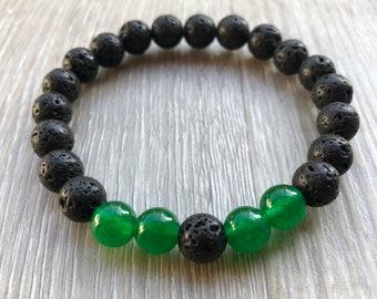Gemstone + Lava Diffuser Bracelet