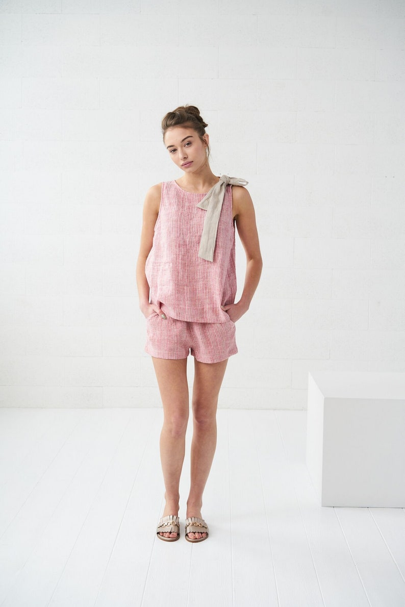 311d65337f7 Linen tank top SICILY washed softened linen blouse womens