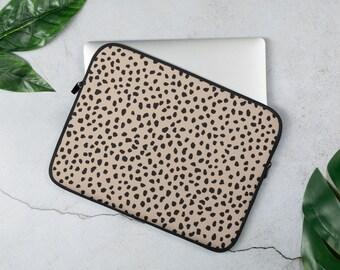 Leopard Print Dots Laptop Sleeve