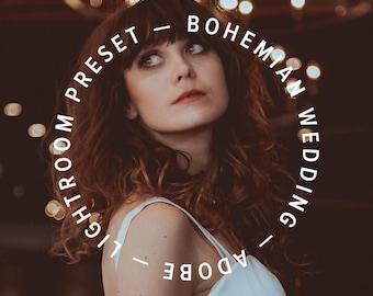 Bohemian Wedding Preset — 4 Premium Adobe Lightroom CC Presets + 40 Adjustment Tools — #radesigner