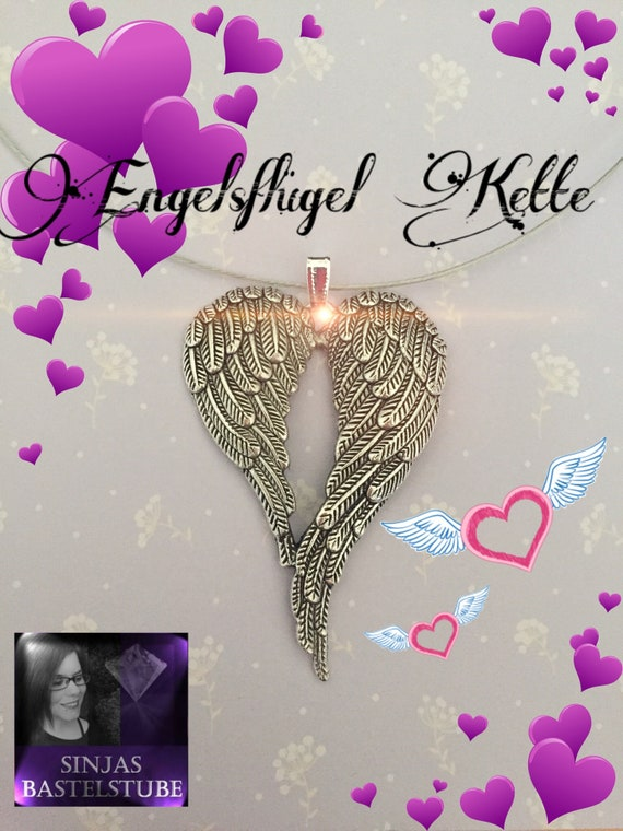 angel wing necklace etsy - Ngel Muster Selber Machen