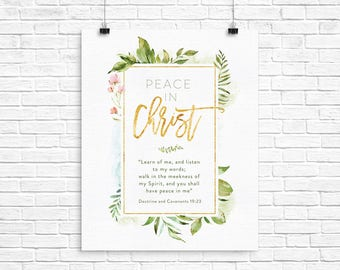 2018 LDS Youth Theme - Peace In Christ D&C 19:23 - Instant Download - 16x20 Poster- INSTANT DOWNLOAD