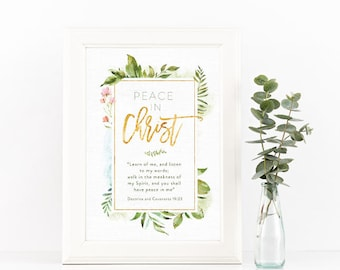 2018 LDS Youth Theme - Peace In Christ D&C 19:23 - Instant Download - 8x10- INSTANT DOWNLOAD
