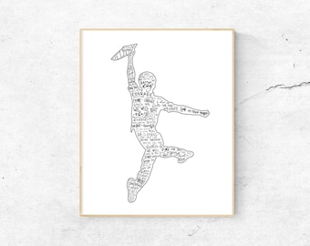 Newsies Musical Silhouette Print   Hand-Lettered   Black and White   Digital Download