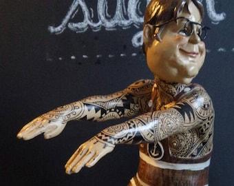 Tattoo figure Swimming man / Swimmer