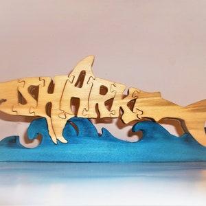 Hand Cut Alligator Wooden Puzzle