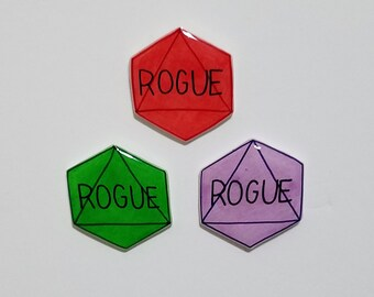 Rogue Dungeons and Dragons D8 Button