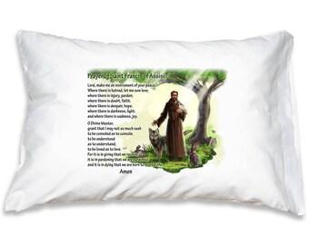 Saint Anthony Prayer Pillow Case