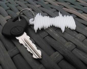 Custom 3D Printed Sound Wave Keyring