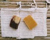 Natural, Soap Bag, Plastic Free, Soap Saver, Exfoliating Soap Bag, Zero Waste, Soap Pouch, Soaps Last Longer No Waste, Cotton, Ramie