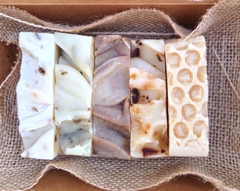5 Handmade Soaps Gift Pack,  Eco Friendly Package, SLS Free,  Palm Oil Free, Paraben Free,  Essential Oils, Plant Oils, Natural Skincare