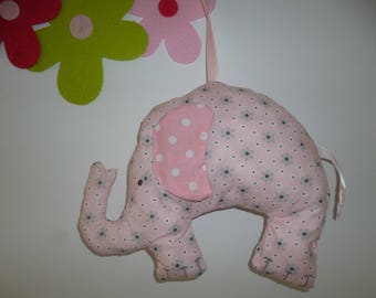 Pink and grey elephant pillow