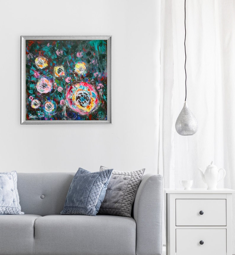 Abstract Roses romantic style floral wall decor abstract image 0