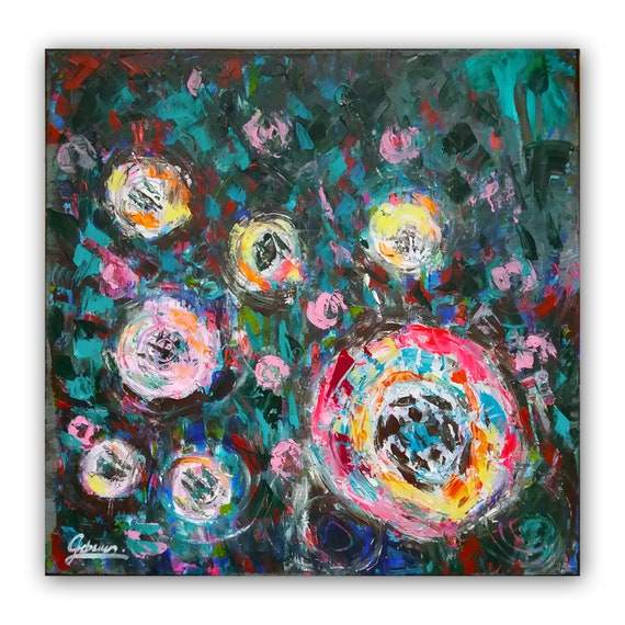 Abstract Roses floral wall dec...