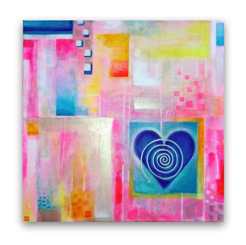 Love bohemian abstract wall decor emotions happiness image 0