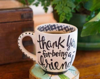 Thank You Friend Ceramic Jumbo Mug