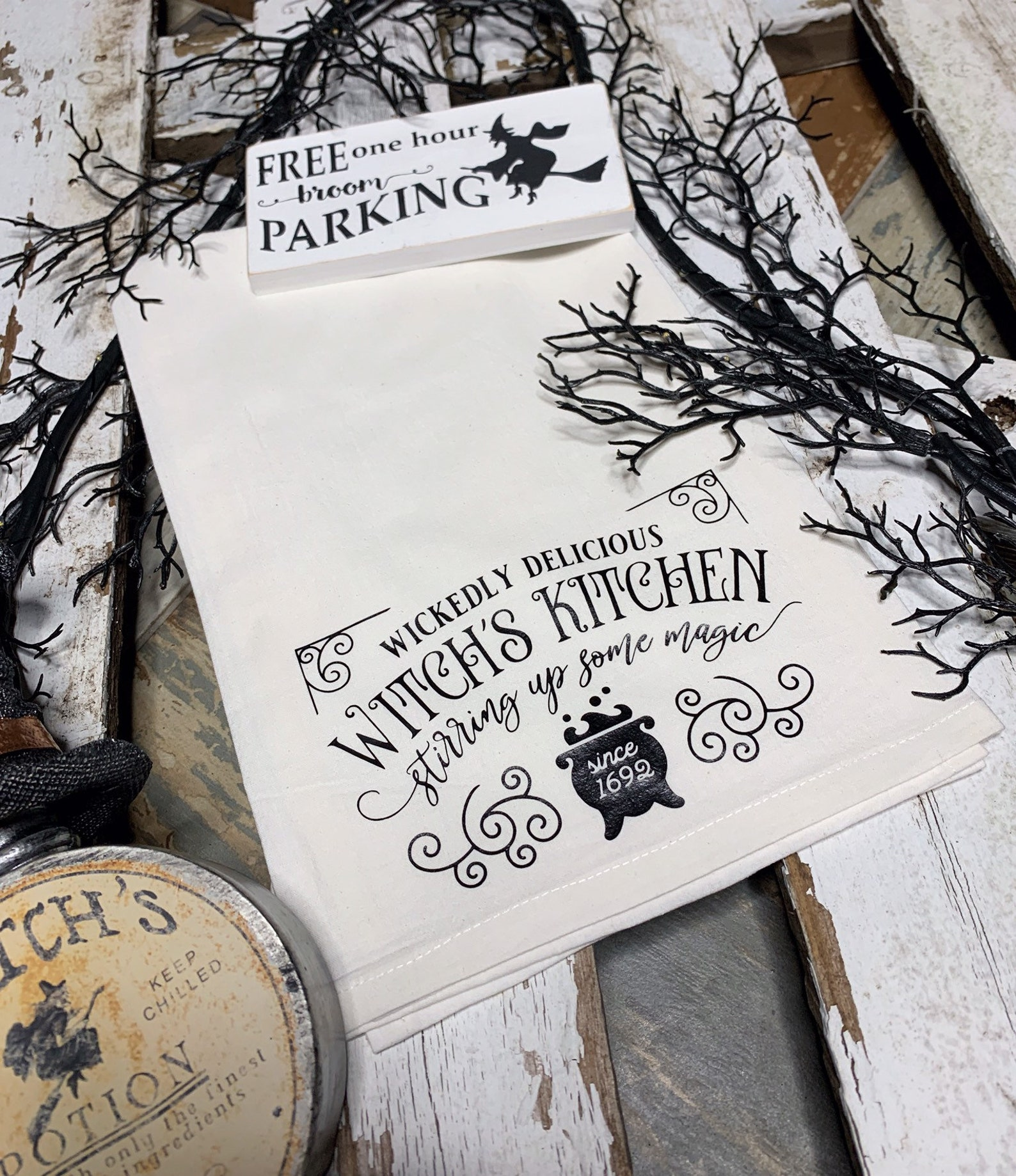 Halloween Witch Kitchen Towels Page Four