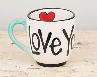 Love You More Ceramic Jumbo Mug
