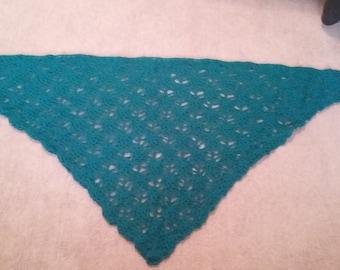 Teal Crochet Shawl