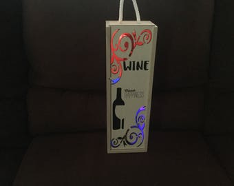 Light up wine bottle holder