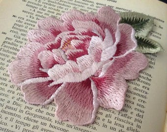 Soft Pink Rose Emboidery Patch Large Size
