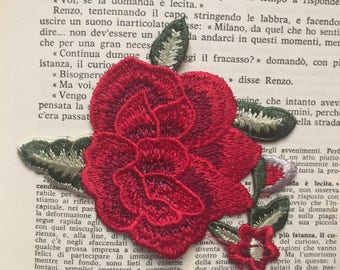 Lux Rose Emboidery Patch