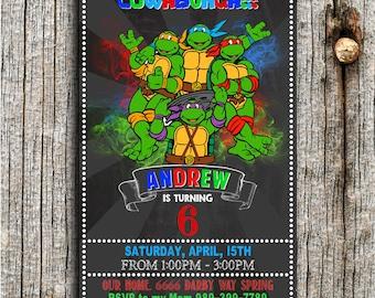 Ninja Turtles Invitation, Ninja Turtles Birthday, Ninja Turtles Party, Ninja Turtles Invites, Ninja Turtles Printables, Ninja Turtles