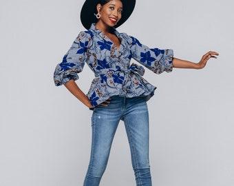 51b82c89bc Ankara Top African Clothing African Top African Print Top African Fashion Women's  Clothing African Fabric Short Dress Summer Dress