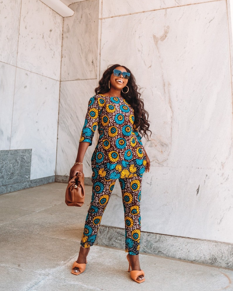 Ankara Top and Pant African Clothing African Dress African image 0
