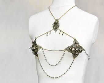 Babylon Brass Chain bra