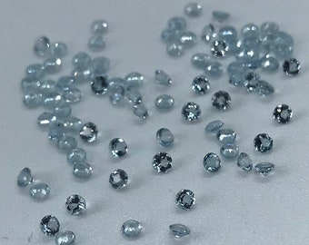"""2X2MM AQUAMARINE GEMSTONE GRADE A MICRO FACETED RONDELLE LOOSE BEADS 15.5/"""""""