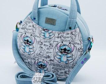 OOAK 626 Blue Stitch Magdalena Circle Bag / Stitch Experiment Bag / Ohana / Alien Bag / Alien Purse