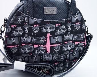 OOAK  Lucy Circle Bag / Lucy Ricky Ethel / I Love Lucy / Lucy Fan Art / Designer Handbag / Custom Purses