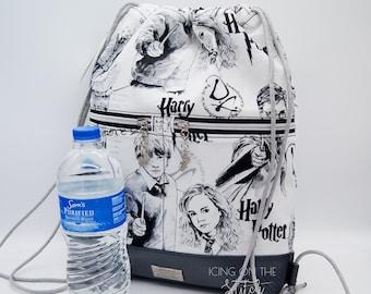 Wizard Backpack / Mischief Bag / Harry Hermione  / Drawstring Backpack / Sorcery Bag / Designer Bag / Begonia Backpack