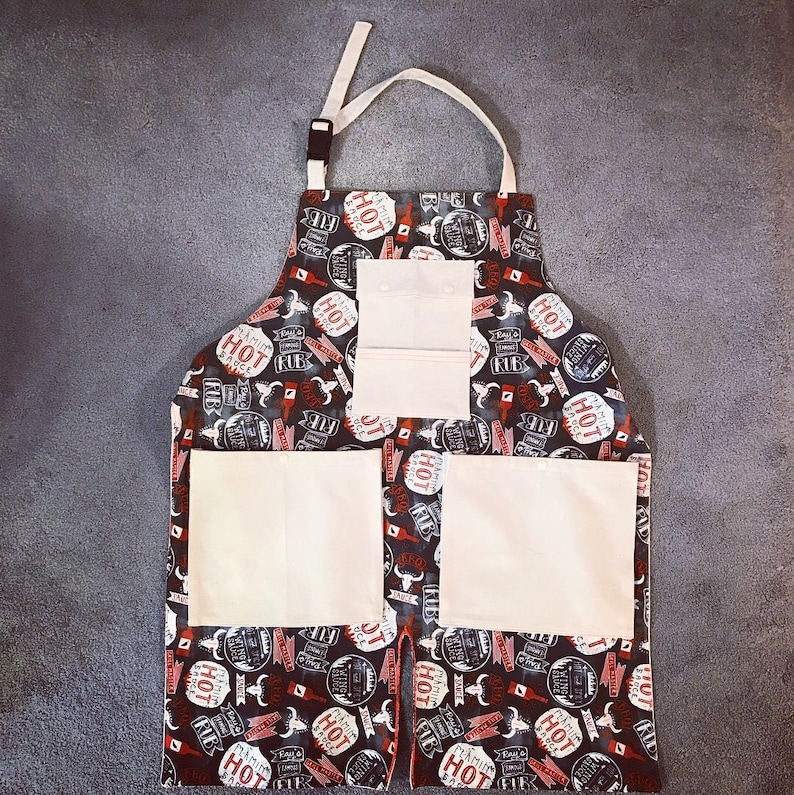 BBQ Apron / Grilling Apron / Manly Apron /Made To Order image 0