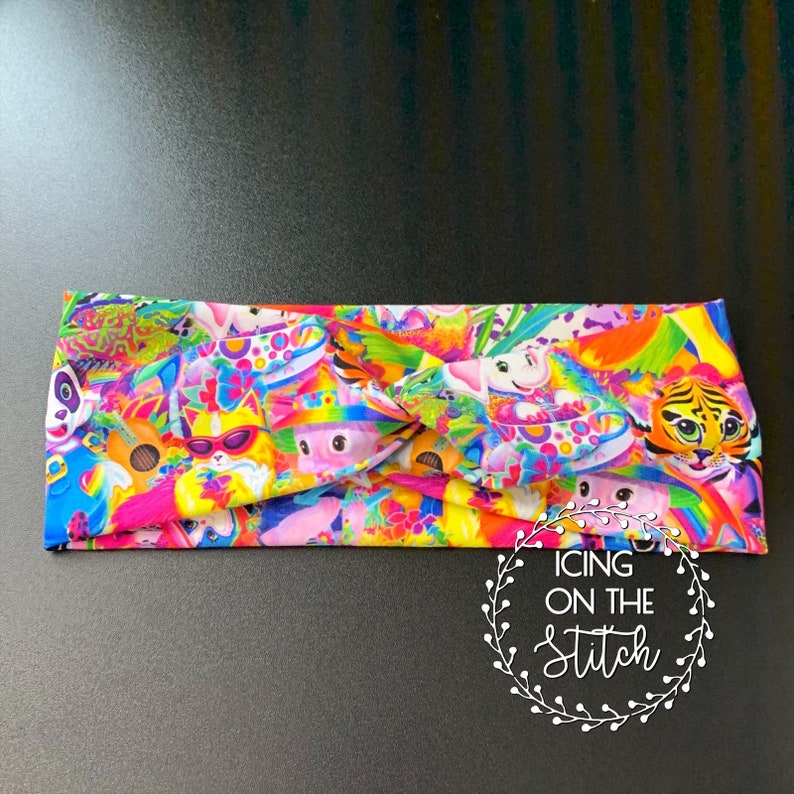 Faux Turban Twist Headband / Lisa Frank Headband / Head Wrap / image 0