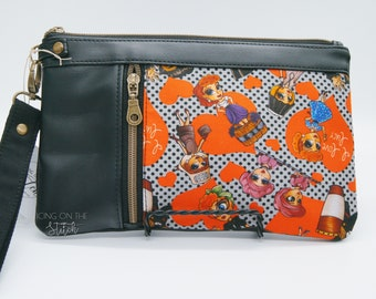 Lucy Zippy Clutch / Lucky And Ricky / Wristlet Purse / Clutch Purse / Travel Purse / Large Wallet / I Love Lucy / 50s TV / Lucy Ethel