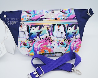 Bright Animals Waist Pack / 90's Kids Bag / Neon Animals / Penguins Bag / Dolphins Bag / Purple Animals Bag / Bum Bag / Waist Bag