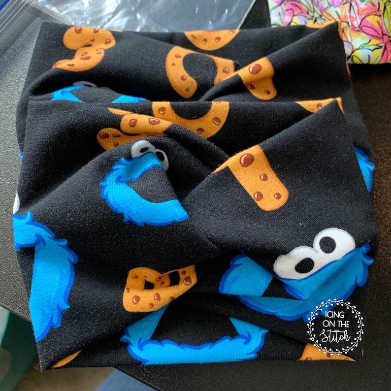 Faux Turban Twist Headband / Cookie Monster Headband / Head image 0