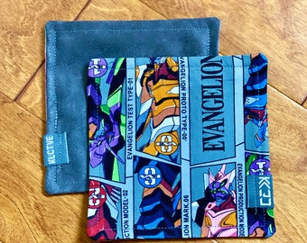 "Kaiju Cut and Sew + KLCTVE ""Eva variant"" Micro Suede Cleaning Cloth | Handmade in Austin Texas"